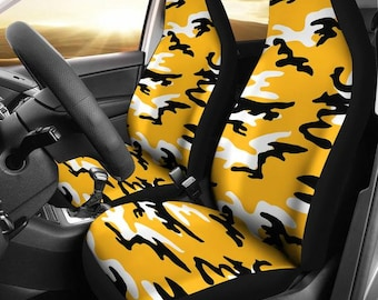 Pittsburgh Steelers Camo Pittsburgh Steelers Steelers  Football Football Micro Fiber NFL Car Seat Covers SUV Seat Covers  Black Yellow News 50e828f86