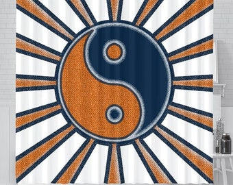 Auburn/Tigers/War Eagle/Ying Yang/Shower Curtain/Bathroom /Accessory/Bath/House/Gift/Mens/Womens/Football
