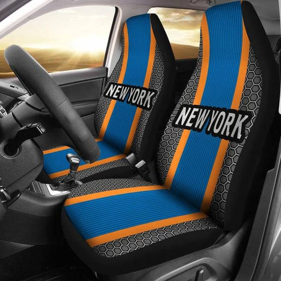 New York Knicks Micro Fiber Car Seat Covers Sport Stripe