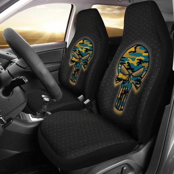 Jacksonville Jaguars Punisher Camo Car Micro Fiber Seat