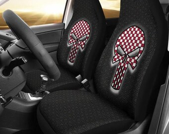 Alabama Crimson Tide/Bama/Roll Tide/Football/Punisher/Checker/Car/Micro Fiber/Seat Covers/Skulls/Gifts