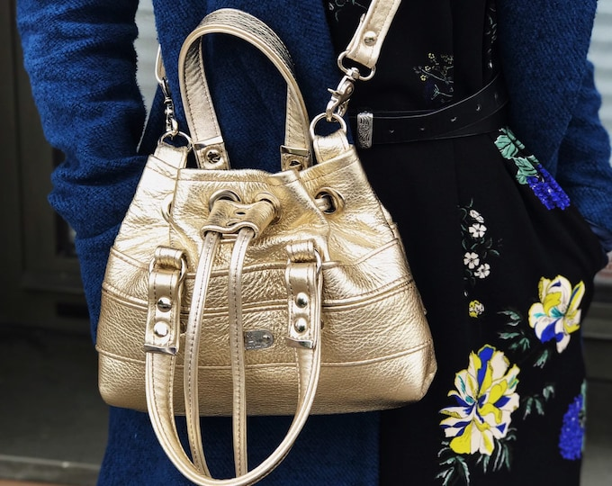 BUCKET BAG Petite (Gold Dust)
