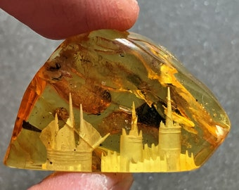 Natural stone Amber pendant with Ag925* 14,1gr Excellent quality Hand made in Latvia Exclussive Yellow