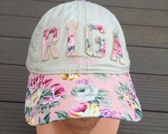 23053b81 Riga baseball cap. Spring flowers. Adjustable size. Robin Ruth Rīga cap  Original