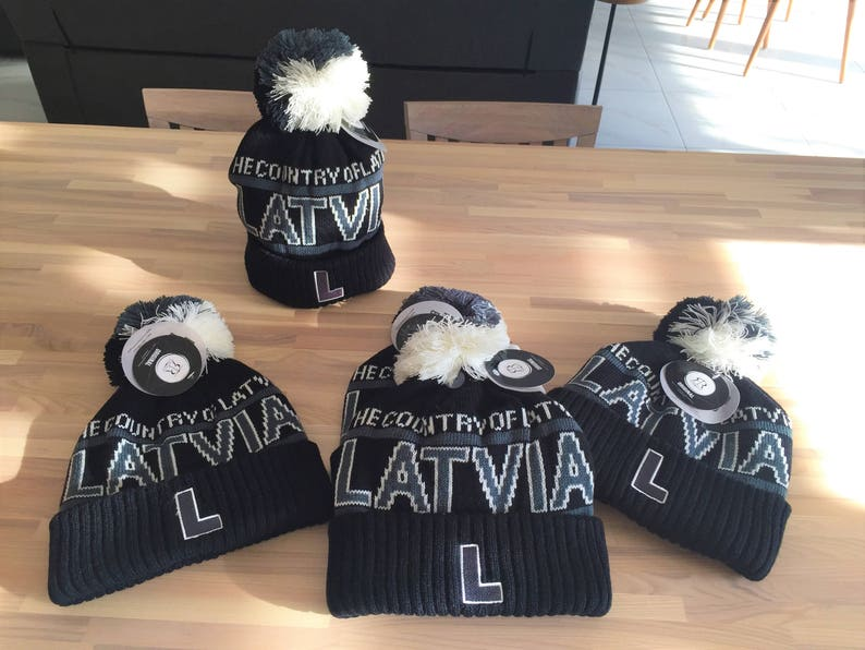 Super warm One size fits all Country of Latvia 2018.y.model! Unisex Winter hat Latvia winter hat