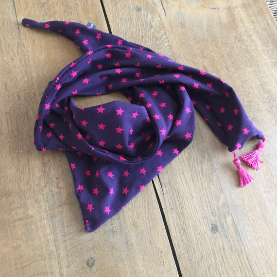 Scarf, shawl, scarf with stars for children