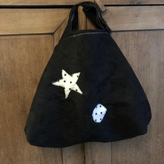 XXL burlap handbag gray