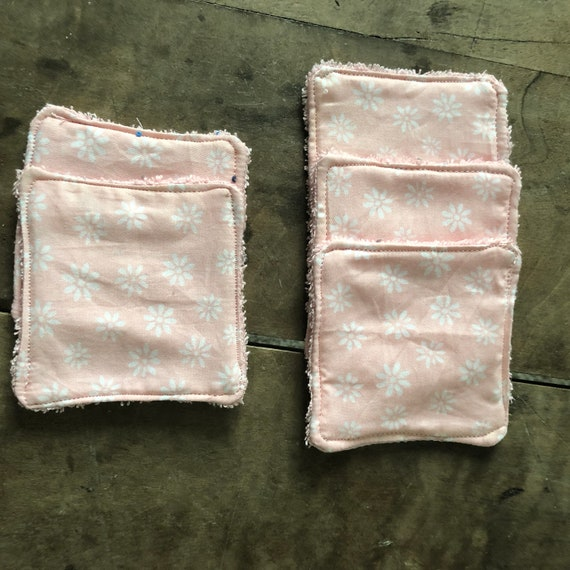Pink cotton wipes