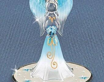 Glass Baron Heavenly Blue Angel Figurine