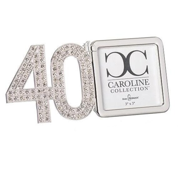 Roman Inc 40th Anniversary White Porcelain Decorative Picture Frame