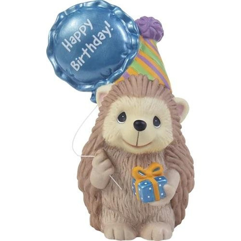 Precious Moments Looking Sharp On Your Birthday Hedgehog Figurine