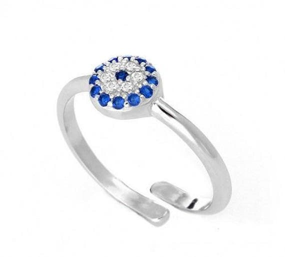 Turkish Evil Eye Protection Ring  517a4c3c34f4