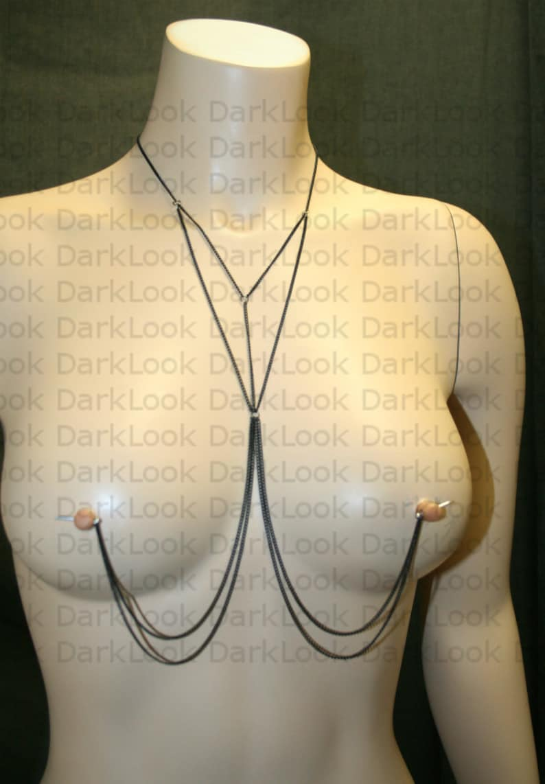 also available in hypoallergenic chain on demand Nipples jewelry Nipple piercing Jewelry