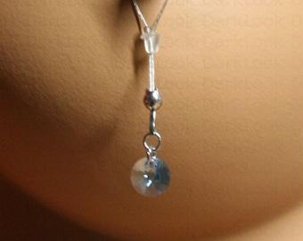 fake Nipples piercing jewelry,swavorski blue aqua