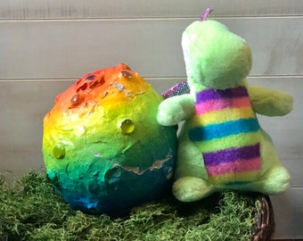 Rainbow Snuggle Dragon