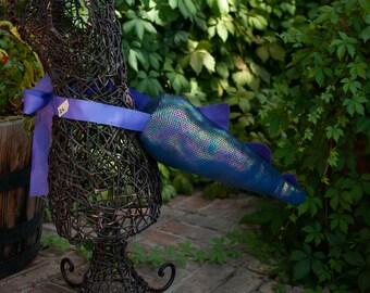 "15"" Shiny Blue and Purple Dragon Tail"