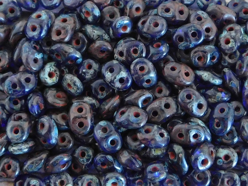 10 grams Superduo Beads Picasso Superduos Super Duo Beads 2 Hole Beads Twin Beads 2.5 x 5mm Picasso Seed Beads 362