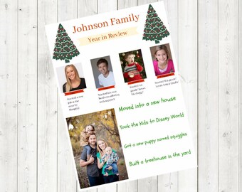 Family Year in Review Christmas Card DIGITAL FILE CUSTOMIZABLE