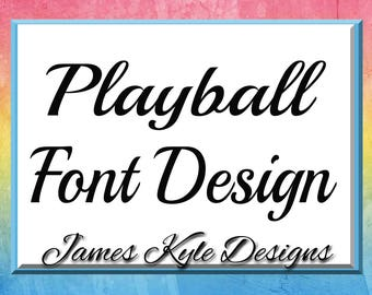 Playball Font Design Files For Use With Your Silhouette Studio Software, DXF Files, DXF Font, SVG Font, Font Cricut instant download