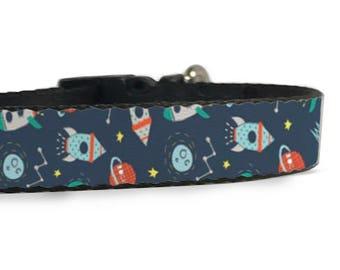 Space Premium Adjustable Dog Collar [Multiple Sizes] [USA Company]
