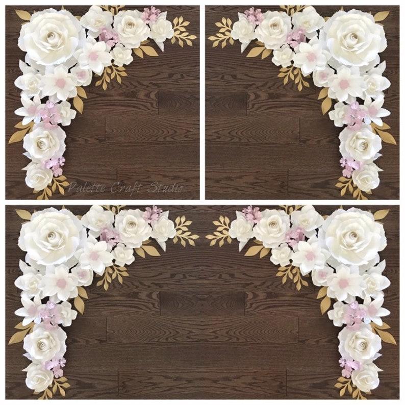 Wedding Arch Paper Flowers Paper Flower Backdrop Wedding Decoration Home Decor Nursery Decoration Wedding Flowers Bridal Shower