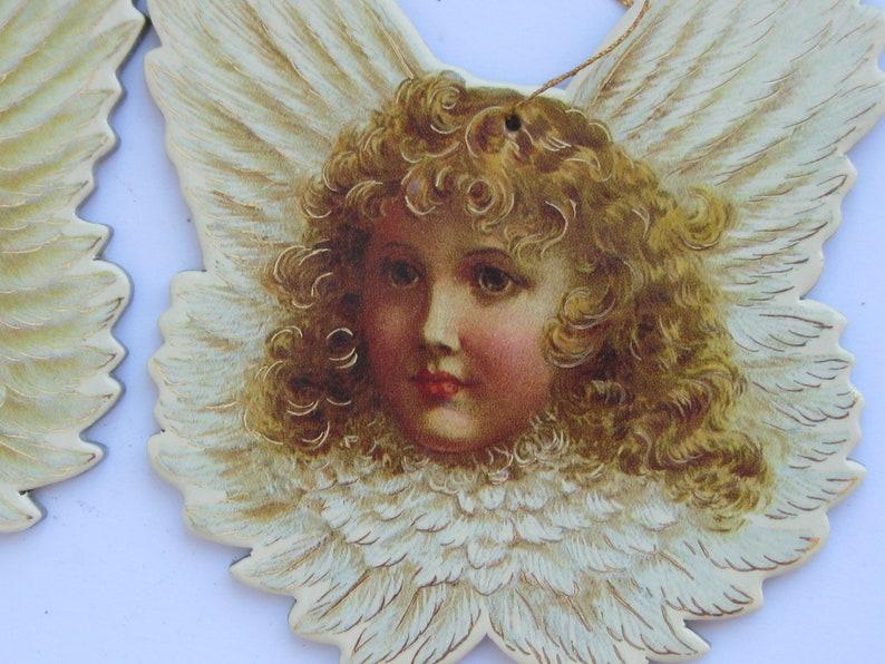 Set 2 Angels cardboard  Christmas Ornament  B Shackman /& Co 1986