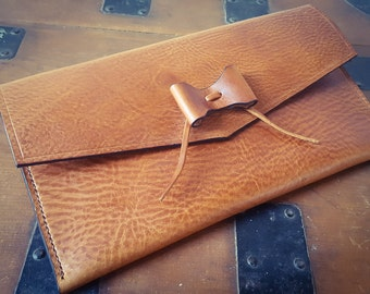 Leather Clutch bag, Evening Bag, leather handbag, clutch bag, Leather Bow, gift for her