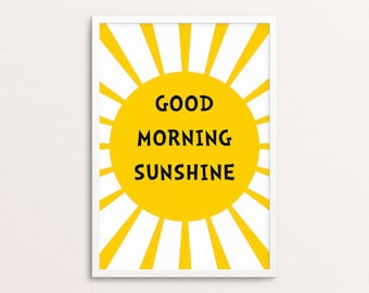 Good morning sunshine | Scandi style | Nursery and kids room | Digital download
