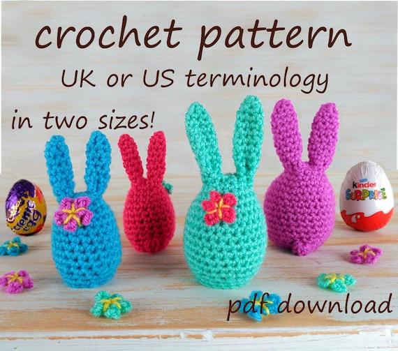 Crochet Bunny Easter Egg Cosy Pattern Easy Crochet Pattern Etsy