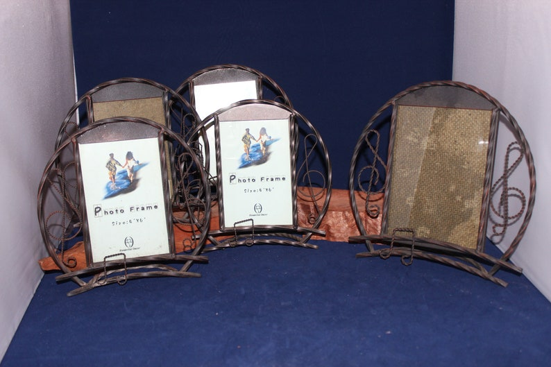 Instruments Music Notes Decorative Metal Picture Frames 4 Etsy