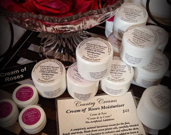 Cream of Roses Face and Body Moisturizer, Natural Skincare from New Zealand, Organic Skin Care.