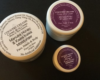 Manuka Honey & Kawa Kawa Moisturiser Cream, Moisturizer, Natural Skincare from New Zealand, Organic Skin Care.