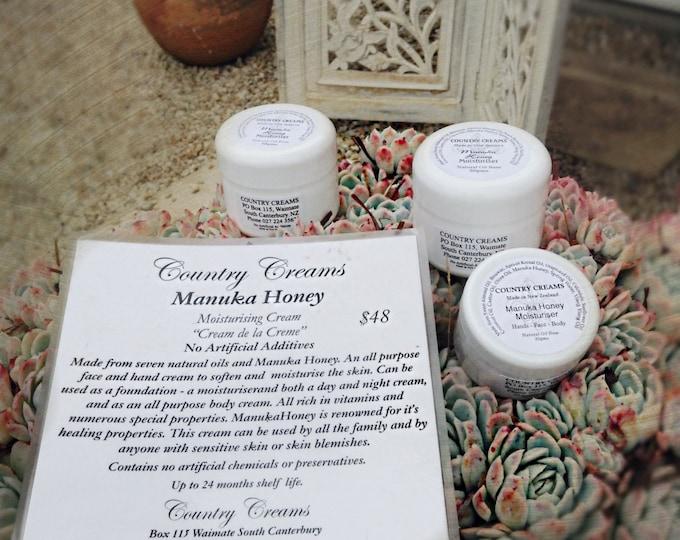 Manuka Honey Moisturiser Cream, Moisturizer, Natural Skincare from New Zealand, Organic Skin Care.