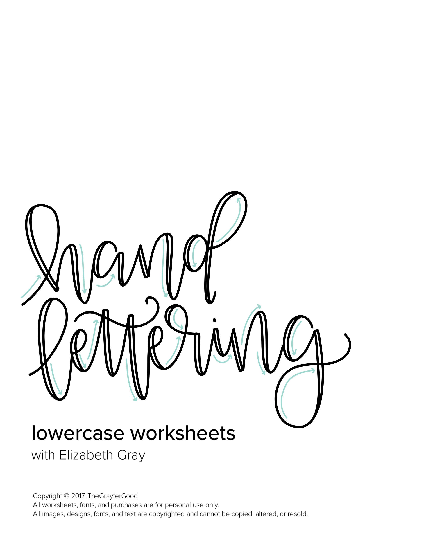 Hand Lettering Worksheets Practice Custom