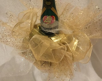 Elegant Chocolate Truffle and Glass gift