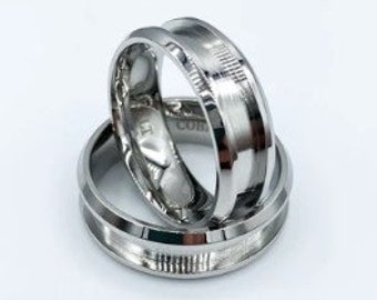 Made to Order Thin Line Theme Custom Made Ring Ceramic Comfort Core