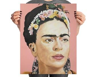 Frida Kahlo Portrait - Frida Kahlo Poster - Fine Art Print - Original Frida Print - Frida Art - Frida Kahlo Art - PRINTED POSTER