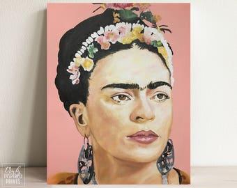 Frida Kahlo Portrait - Frida Kahlo Poster - Fine Art Print - Original Frida Print - Frida Art - Frida Kahlo Art - DIGITAL DOWNLOAD