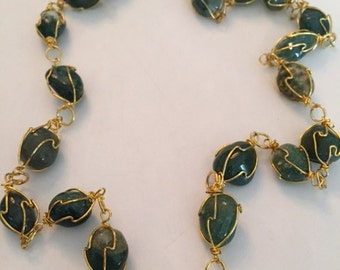 Polished Moss Agate Necklace