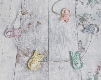 Crochet Bunny Rabbit Garland/Bunting