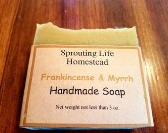 Frankincense & Myrrh Handmade Soap