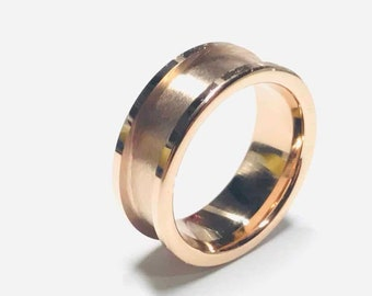 8mm IP Rose Gold Plated Tungsten Carbide Ring Core