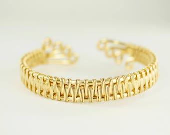 Gold or Silver Plated Copper Adjustable Bracelet