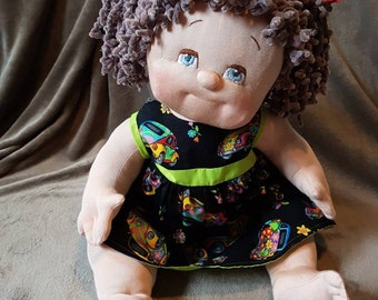 Handmade, Cuddly sculpted Waldorf type of doll.
