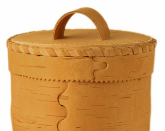 Family box from natural birch bark