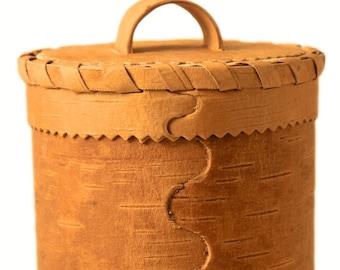 Large natural birch bark tea box