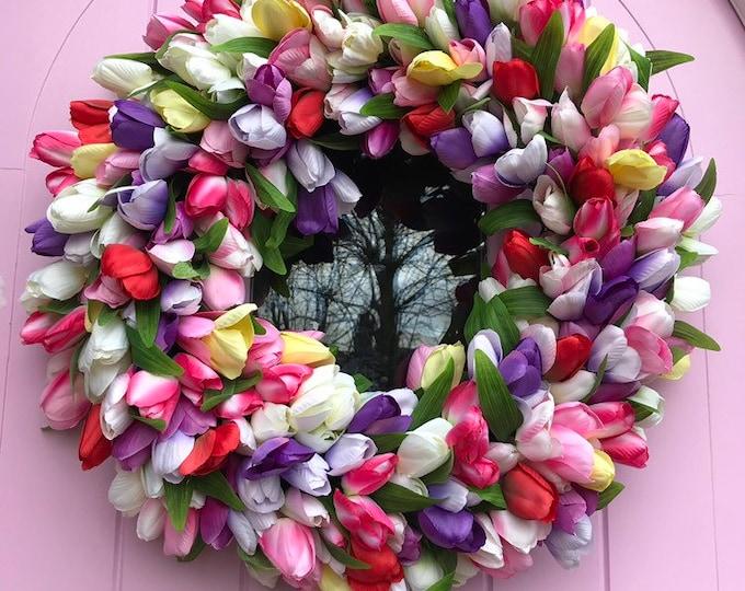 Spring Tulip Wreath - Spring has Sprung