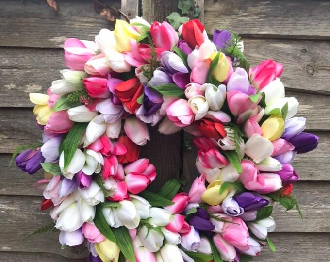 Gorgeous faux Tulip Wreath