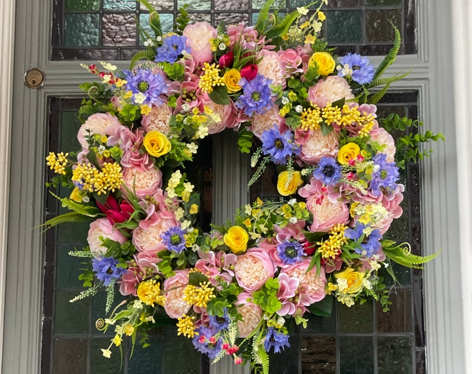 Spring colourburst wreath