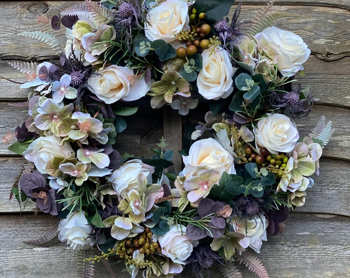 Stunning All Seasons Rosemary and Rose Wreath